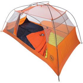 """Big Agnes Protector Suelo Tienda 90x90"""", naranja/azul"""
